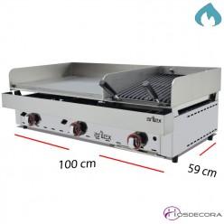 Plancha y Barbacoa de asar a Gas 6.4 y 7.2 KW -15 mm.