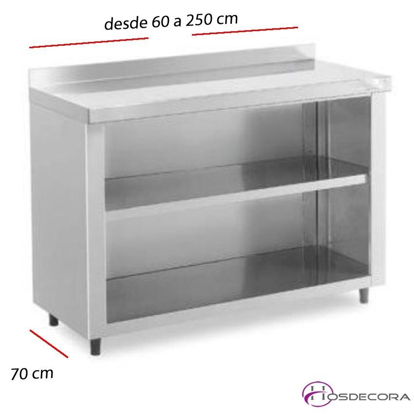 Estantería de bar 1 estante desde 60 a 250 x fondo 70 cm