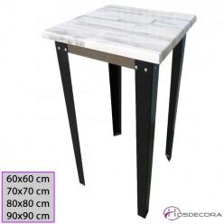 Mesa Rectangular Estructura Metalica 120x70 - 29-Albala