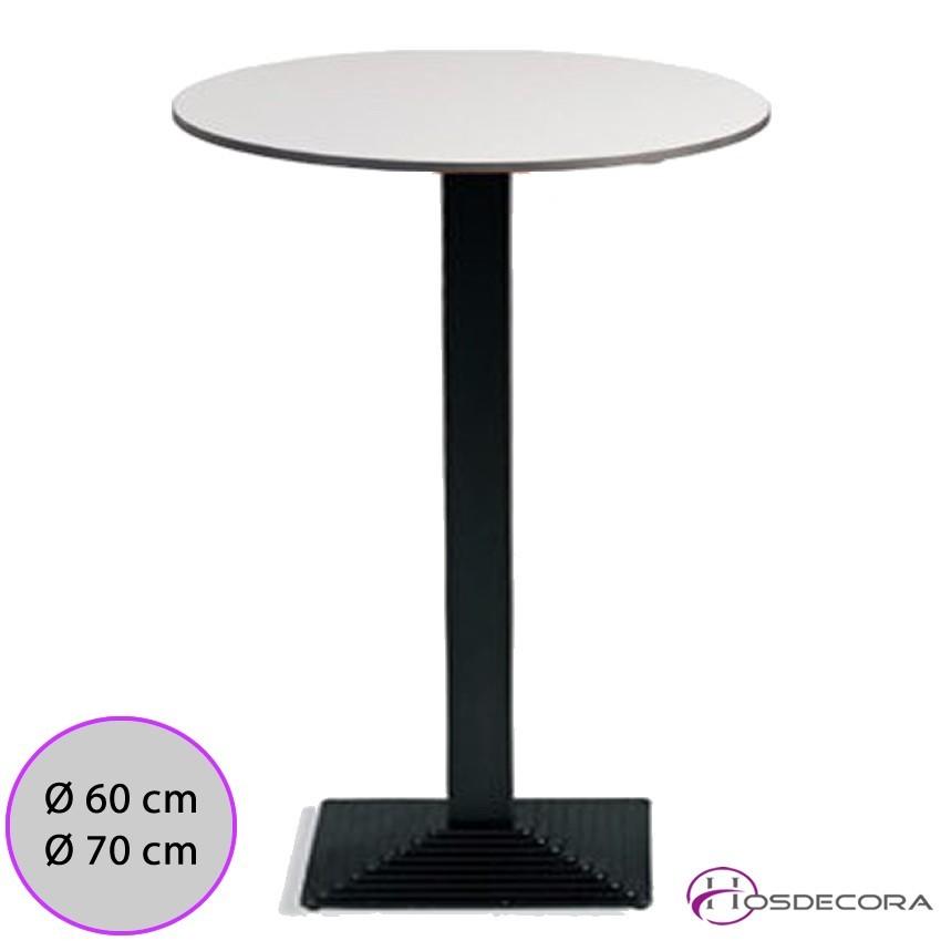Mesa alta jodar con tablero redondo compac para barras for Tablero redondo para mesa