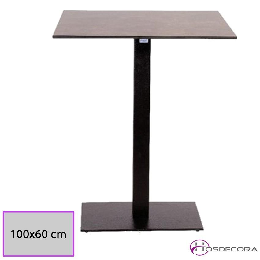 Mesa Alta LIBRILLA de hierro con tablero rectangular Compac