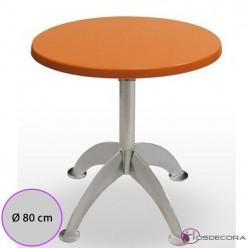 Mesa de bar Provencio Tablero Redondo Werzalit 80 cm.