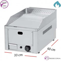 Plancha a Gas de cocer en CROMO 4.8 KW. 10 mm-