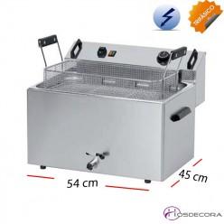Plancha a Gas de cocer en CROMO 4 KW. 10 mm-