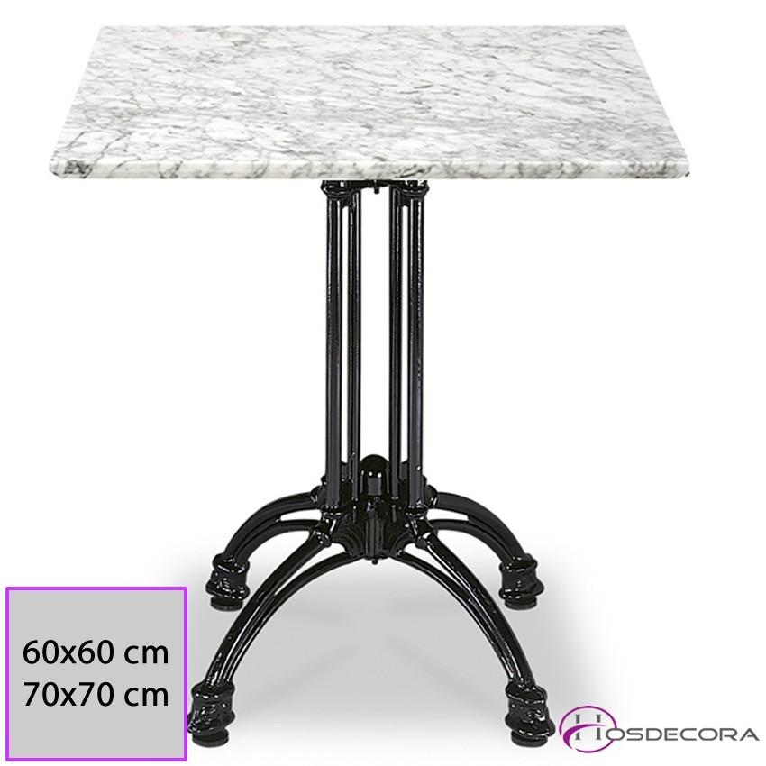 Mesa de marmol cuadrada MR337 -60 x 60 cm