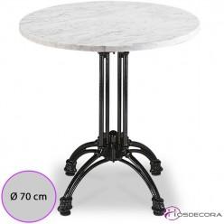 Mesa redonda de marmol MR361 -70 cm