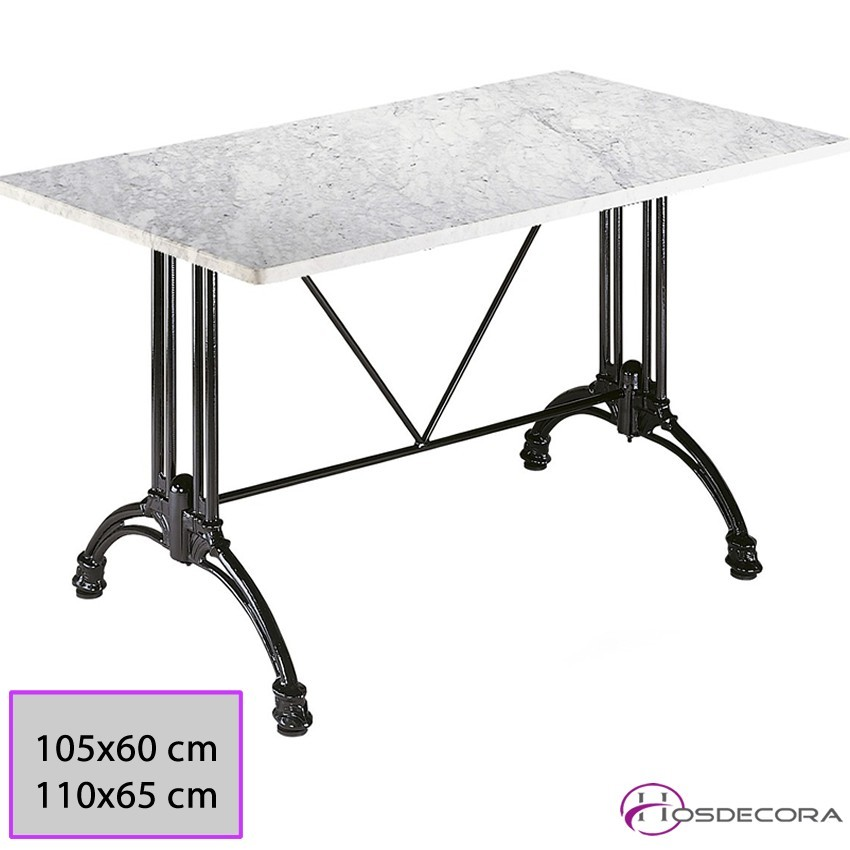 Mesa de marmol rectangular  MR330 -SM 110 x 65 cm