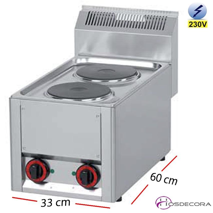 Cocina el ctrica de sobremesa para cocinas industriales for Cocina encimera electrica