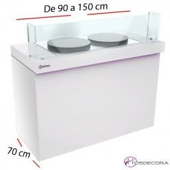 Mesa para elaboración de Crepes Fondo 70cm.