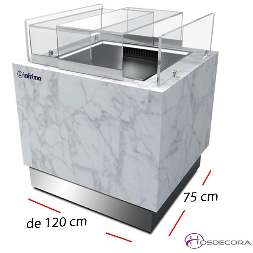 Vitrina Bombonera Reserva- Fondo 75 cm.