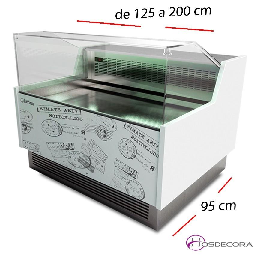 Vitrina de pastelería Cristal bajo- Fondo 95 cm.