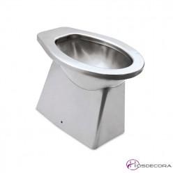 WC inox con tapa