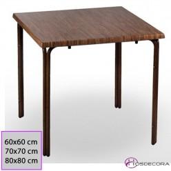 Mesa Corrales de bambu Tablero Cuadrado Werzalit