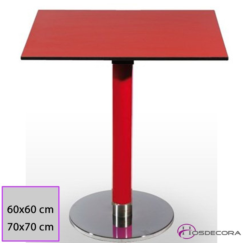 Mesa de bar Aguadulce Tablero cuadrado Compacto