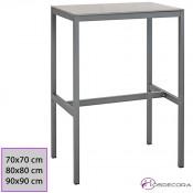 Mesa de jardin de acero Purpura cuadrada 60x60