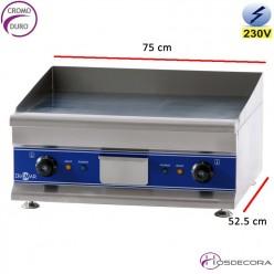 Plancha de cromo eléctrica 6 Kw - 12 mm