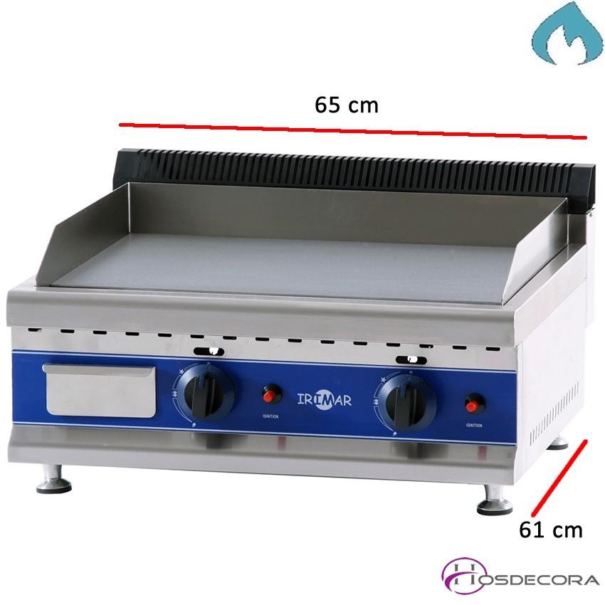 Plancha de cromo a gas 6 Kw - 12 mm