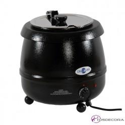 Olla para sopa caliente negra 10L