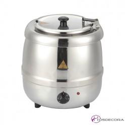 Olla de sopa caliente 10L de acero inox
