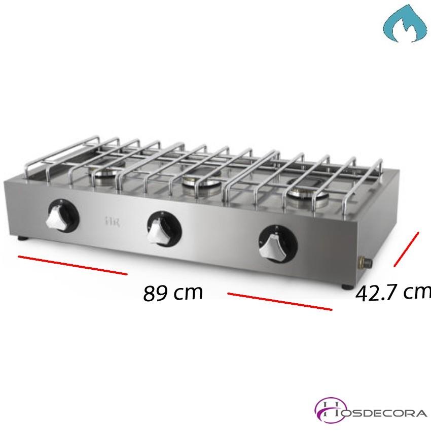 Cocina de gas fondo 42.7 cm 2 Fuegos 3.3 Kw. 09-FG2ECON