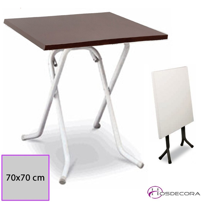 Mesa Plegable Neves Tablero Melamina 70x70 cm