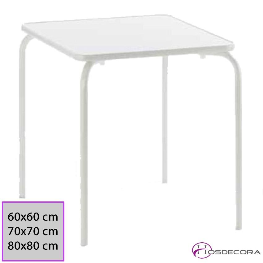 Mesa para Bocadillos Tablero Melamina 60x60x73