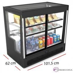 Expositora de vinos fria -Acceso trasera 3 estantes