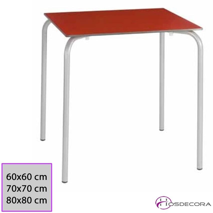 Mesa acero Tablero Compacto 60x60x73