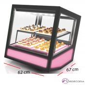 Expositora refrigerada vinos -Acceso trasera 3 estantes