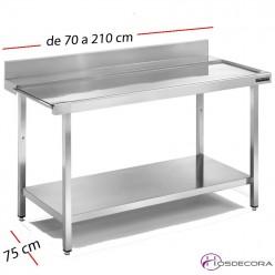Mesas de lavado en acero inoxidable para cocina - Hosdecora