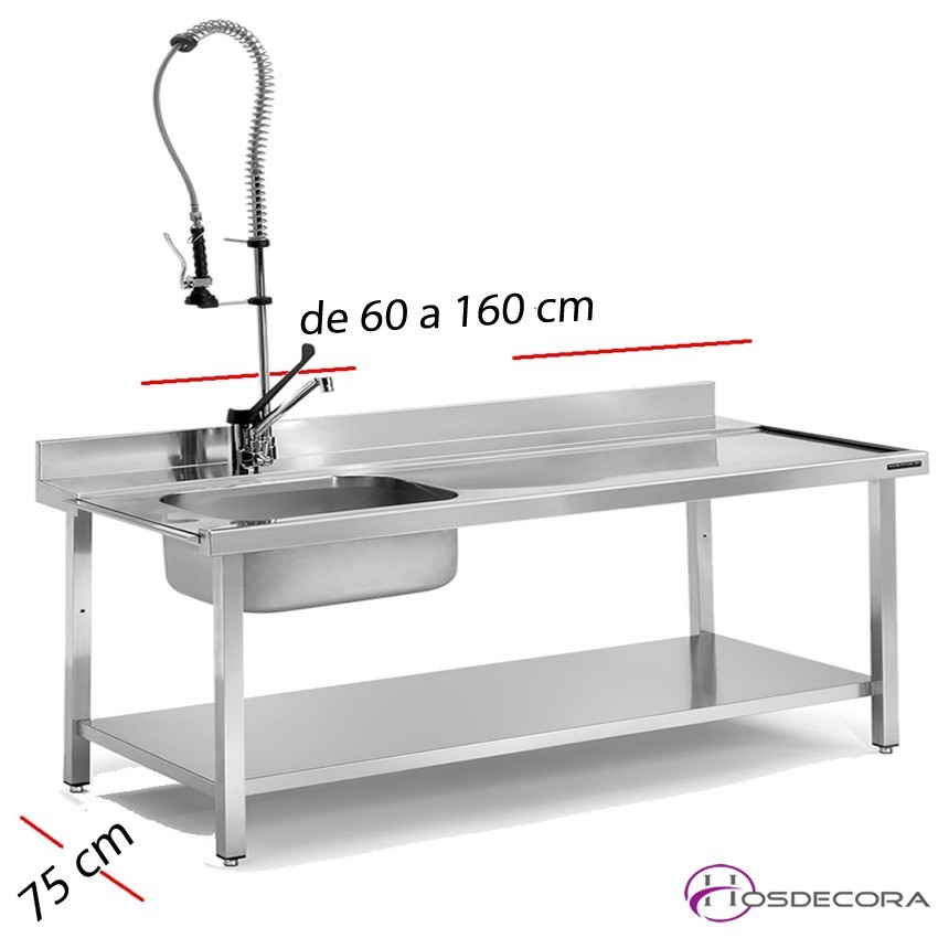 Mesa para lavavajillas pared 70 x 75 cm FESME077