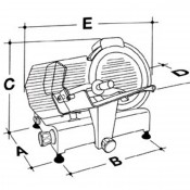 Cortadora de Embutidos disco 250- 148W