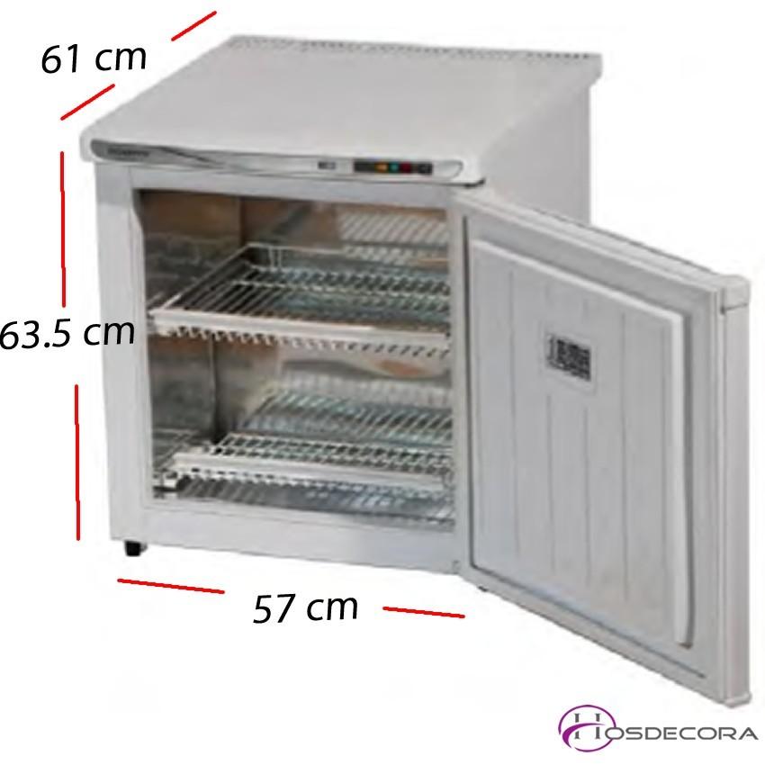 Congelador puerta cristal 65 L - 120 W