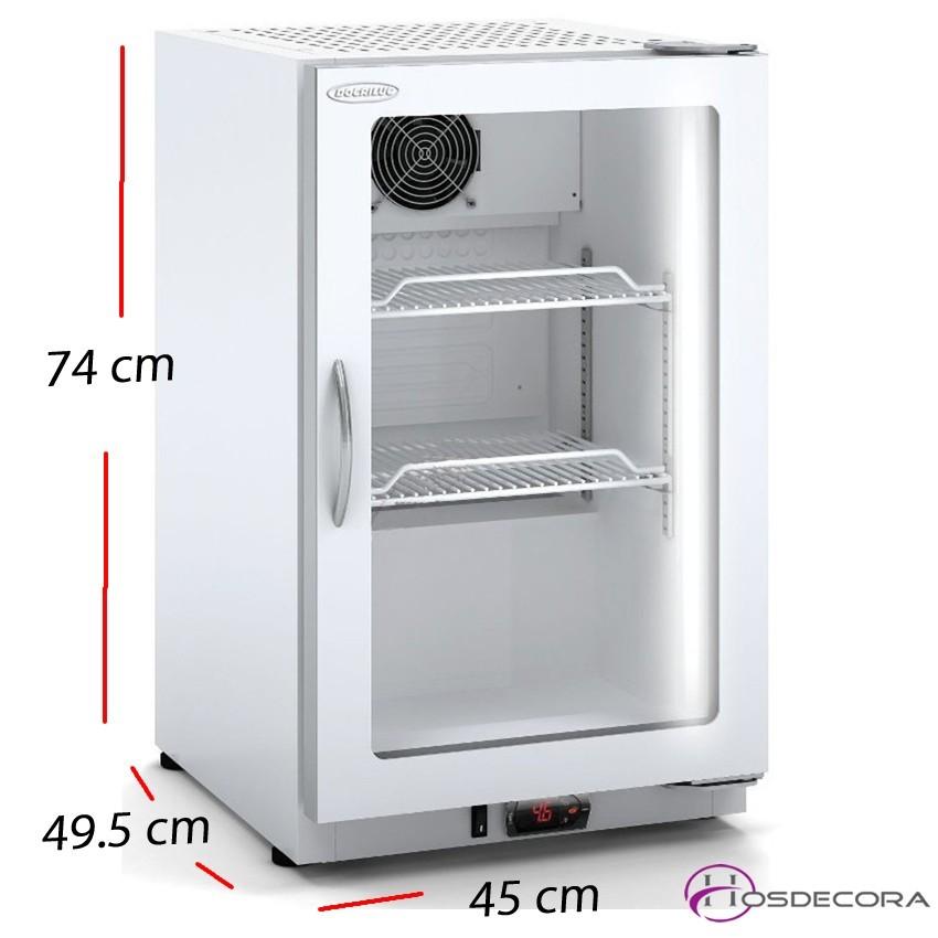 Armario Frío Puerta Cristal 54x73 - 304 W - ASVD55