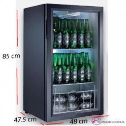 Armario frío para latas 1 P cristal - 52 L- 80 W