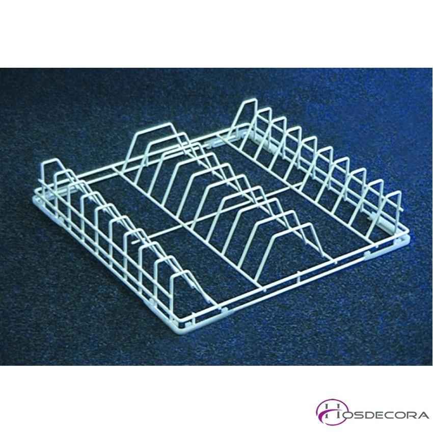 Cesta para platos de alambre 50x50 cm