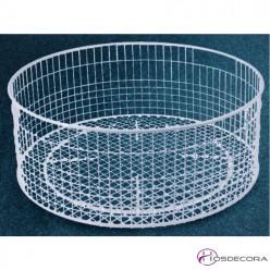 Cesta de lavado redonda de alambre 35.5 cm Ø