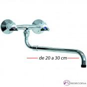 Grifo de caño extraíble dos aguas 34-540392