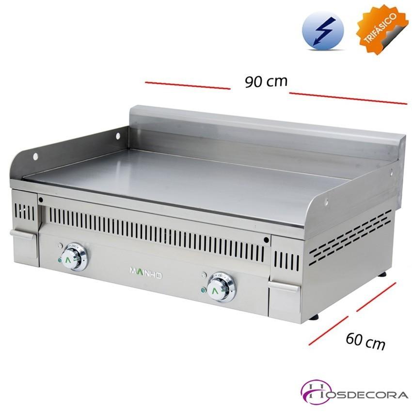 Plancha Eléctrica de cocer Acero 9 KW.-20mm-