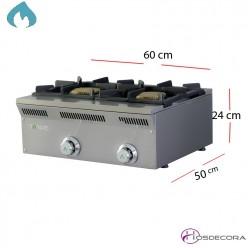 Cocina a Gas Sobremesa 60x50 -12Kw- ELE-62G