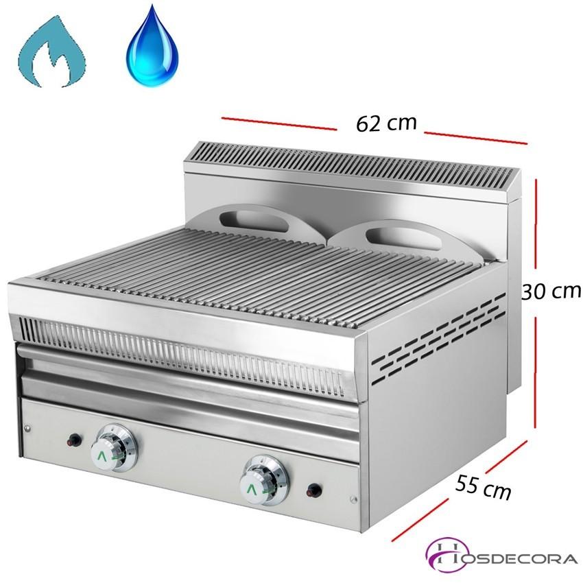 Barbacoa de Agua a Gas Inox-Varillas 62x55 cm-NG-62