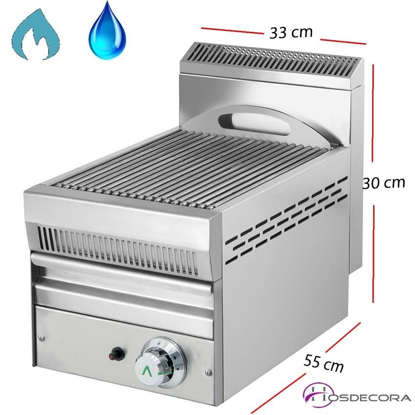 Barbacoa de Agua a Gas Inox-Varilla 33x55- NG-33