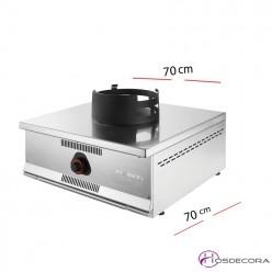 Cocina Wok Sobremesa 70x70 12 Kw- W-100-ECO