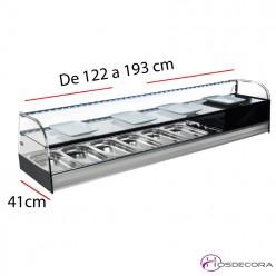 Vitrina refrigerada estante abierto 4 a 8 bandejas