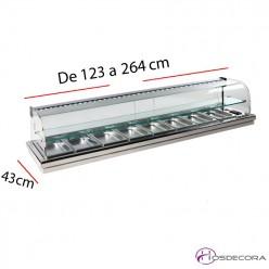 Vitrina encastrar en barra de bar 08-MFR-6E+ con estante