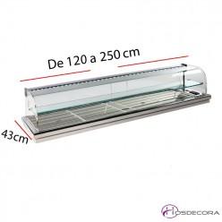 Vitrina para encastrar con estante 08-MFR-120E+