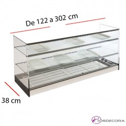 Vitrina refrigerada 3 pisos grupo remoto 08-TR-3-120+