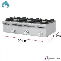 Cocina encimera gas fondo 50  28-ELE-93G