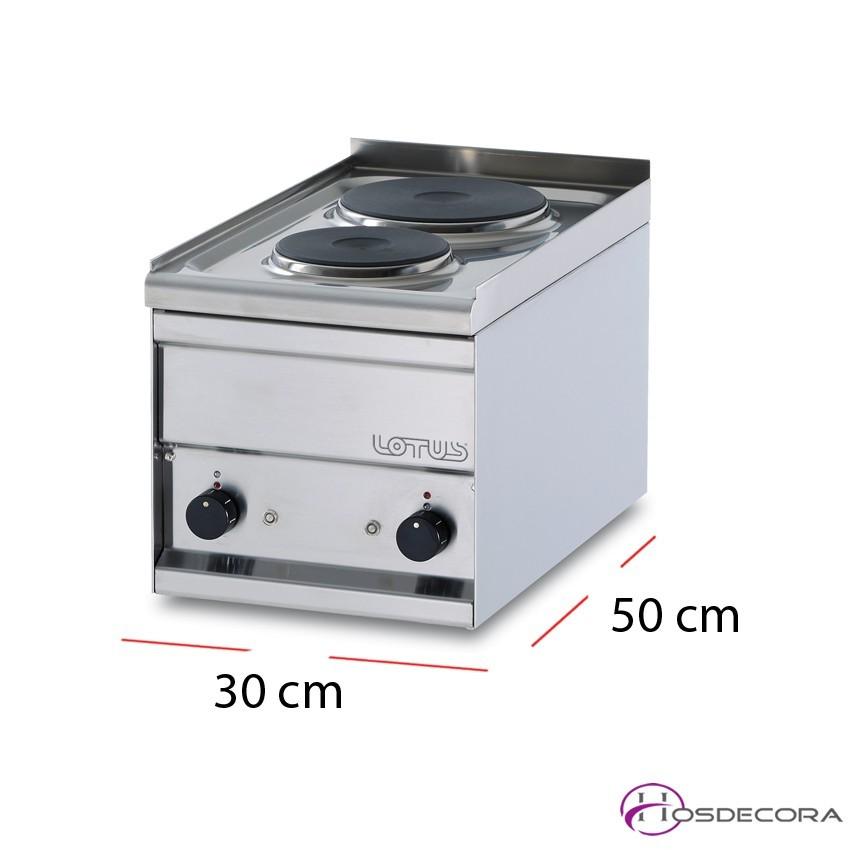 Encimera de cocción monofásica 30x50 cm 2,5kW