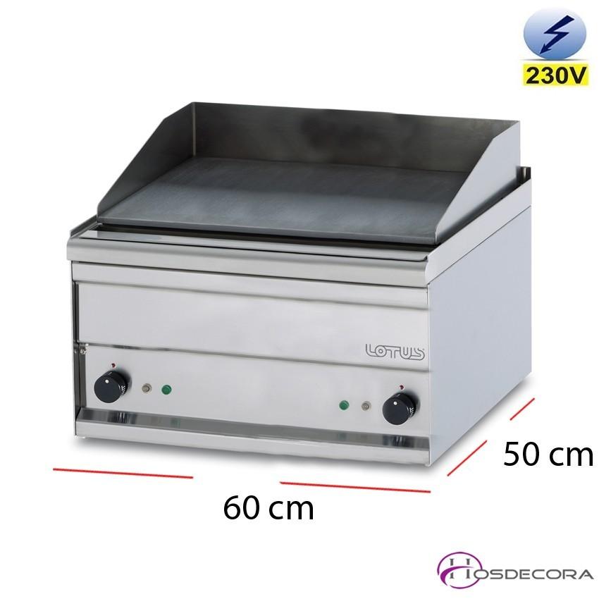 Plancha bar lisa 60x50 cm monofásico 5.32kW